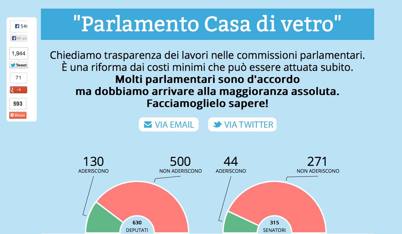 Parlamento casa di vetro